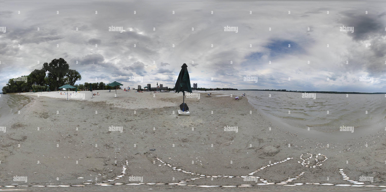 Spiaggia del Lido Zemun Immagini Stock