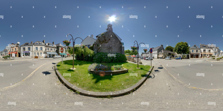 Centre Ville Le Faouet Morbihan Francia 3362 Immagini Stock