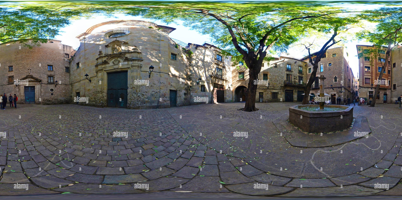 Plaza de San Felipe Neri - 08002 Barcelona, España Immagini Stock