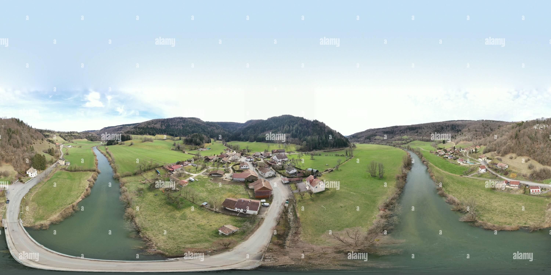 Il villaggio di Brémoncourt Immagini Stock