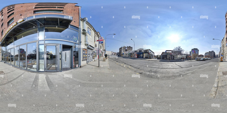 Caraffa di Belgrado Bogdanova street Immagini Stock