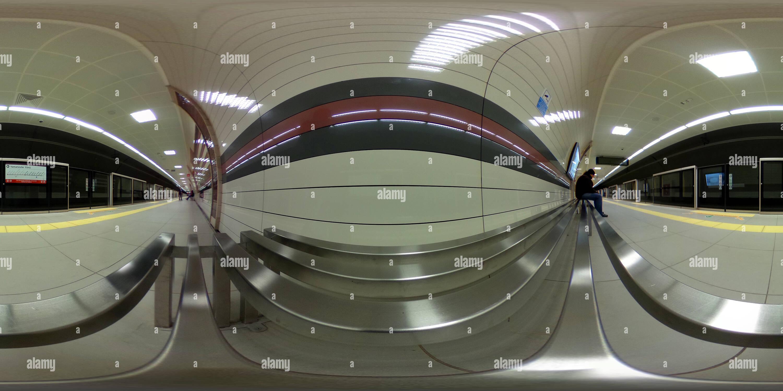 Fistikagaci stazione della metropolitana , Uskudar - 4 Immagini Stock